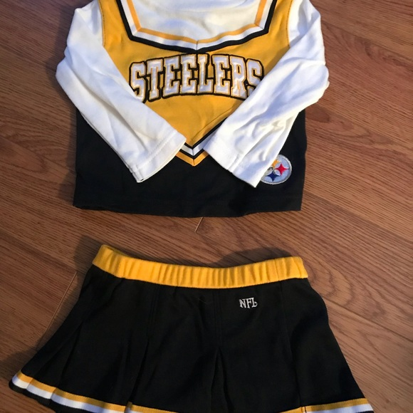 628610f36 Steelers Cheerleader Outfit (size 12 months). M 5b875149dcf855d61719920b